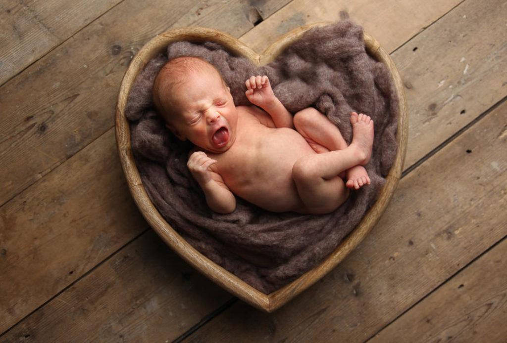 newborn photography Leeds, heart bowl, baby photography Leeds